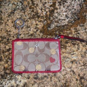 Coach ID/card wallet keychain Valentine's edition